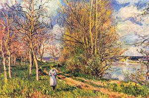 Les Petits Prés Au Printemps by Alfred Sisley