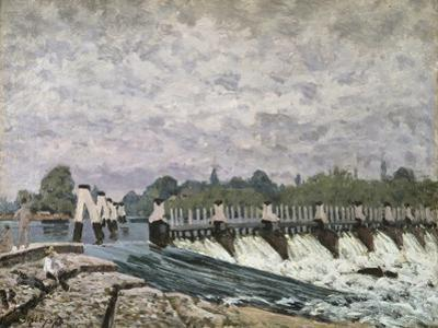 Molesey Weir Hampton Court, 1874 by Alfred Sisley