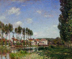 Moret, Bords du Loing, France (1892) RF 2024. by Alfred Sisley