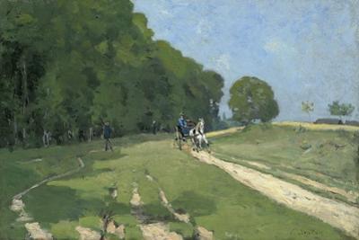 Path Near the Parc De Courances; Chemin Pres Du Parc De Courances, 1868 by Alfred Sisley