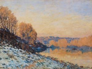 Port-Marly, White Frost, 1872 by Alfred Sisley