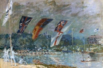 Regatta at Molesey, 1874 by Alfred Sisley