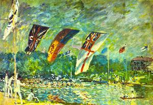 Alfred Sisley Regatta in Molesey Art Print Poster