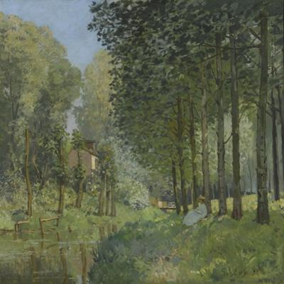 Rest Along the Stream, Edge of the Wood, Ca 1878 by Alfred Sisley