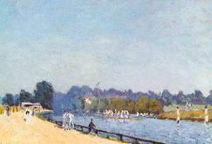 Road from Hampton Court by Alfred Sisley