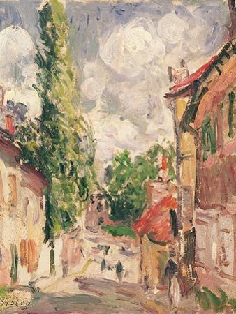 Road in a Village by Alfred Sisley