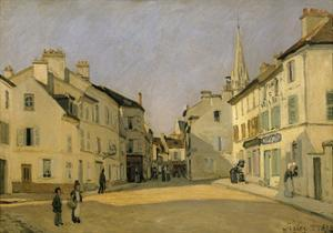 Rue De La Chaussee at Argenteuil, 1872 by Alfred Sisley