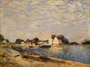 Saint-Mammes, on the Banks of the Loing; Saint-Mammes, Les Bord Du Loing, 1884 by Alfred Sisley