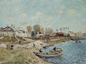 Sand on the Quay, 1875 by Alfred Sisley