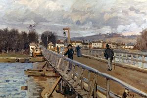 Sisley: Foot-Bridge, 1872 by Alfred Sisley