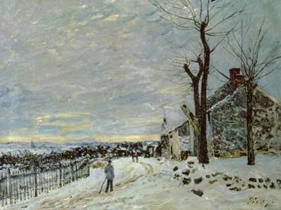 Snow at Veneux-Nadon, C.1880 by Alfred Sisley