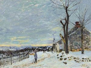 Snow at Veneux Nadon by Alfred Sisley