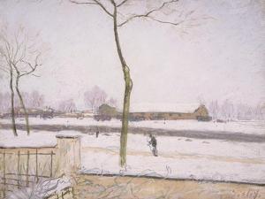 Snow Effect (Effet De Neige) C. 1880-1885 by Alfred Sisley