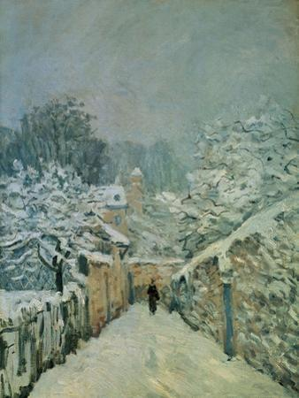 Snow in Louveciennes, 1878 by Alfred Sisley