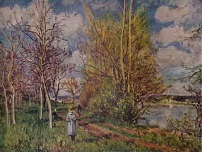 'Spring on the River Banks', late 19th century. (1941) by Alfred Sisley