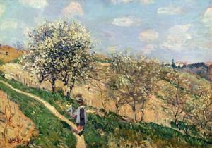 Springtime at Bougival by Alfred Sisley