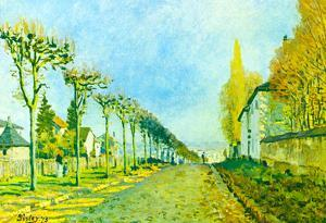 Alfred Sisley Street in Louveciennes Art Print Poster