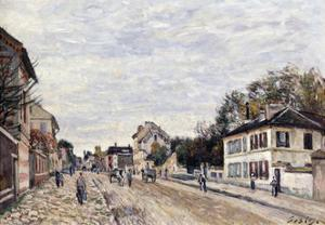 Street Scene at Marly, 1876 by Alfred Sisley