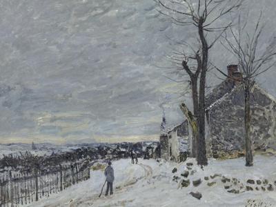 Temps de neige à Veneux-Nadon (Seine et Marne)