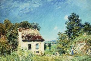 The Abandoned House; La Maison Abandonee, 1887 by Alfred Sisley
