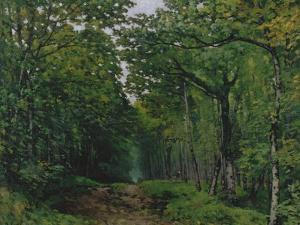 The Avenue of Chestnut Trees at La Celle-Saint-Cloud, 1867 by Alfred Sisley