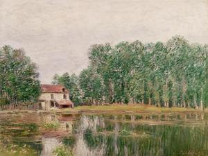 The Banks of the Canal at Moret-Sur-Loing, 1892 by Alfred Sisley