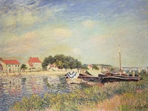 The Banks of the Loing at Saint-Mammes, 1885 by Alfred Sisley