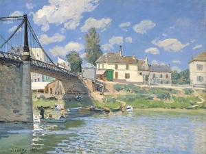 The Bridge at Villeneuve-la-Garenne, 1872 by Alfred Sisley