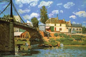 The Bridge at Villeneuve-La-Garenne by Alfred Sisley