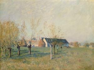 The Farm, 1874 by Alfred Sisley