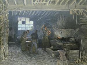 The Forge at Marly-Le-Roi, Yvelines, 1875 by Alfred Sisley