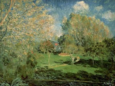 The Garden of Hoschede Family, 1881 by Alfred Sisley