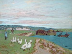 The Goose Girl by Alfred Sisley