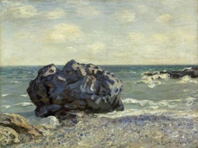 The Laugland Bay, Rock, 1897 by Alfred Sisley