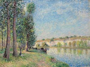 The Loing at Moret; Le Loing a Moret, 1885 by Alfred Sisley