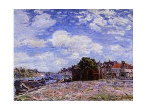 The Loing at Saint-Mammès by Alfred Sisley