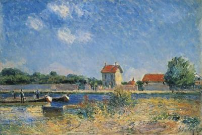 The Loing Canal at Saint-Mammes by Alfred Sisley