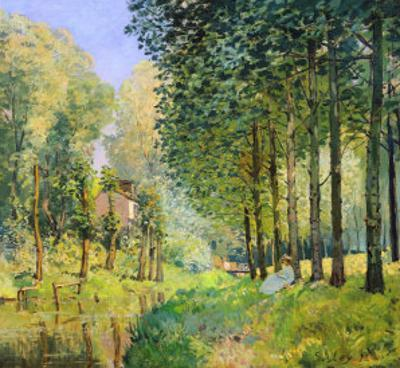 The Rest by the Stream. Edge of the Wood, 1872 by Alfred Sisley