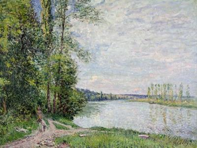 The Riverside Road from Veneux to Thomery, 1880 by Alfred Sisley