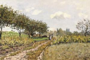 The Road in the Countryside, 1876 by Alfred Sisley