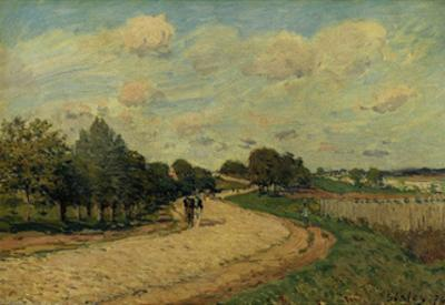 The Road of Mantes, 1874 by Alfred Sisley