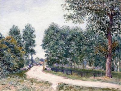 The Road of Saint-Mammes - in the Morning, 1890 by Alfred Sisley