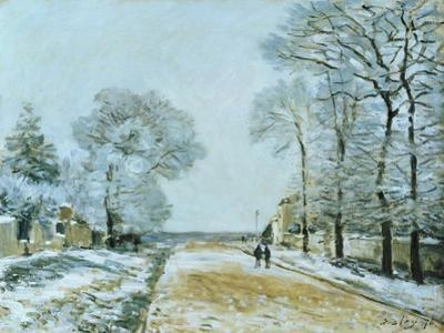 The Road, Snow Effect, 1876 by Alfred Sisley