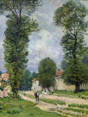The Road to Marly-Le-Roi, or the Road to Versailles, 1875 by Alfred Sisley