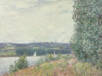 The Seine at Bouille, a Gust of Wind, 1894 by Alfred Sisley