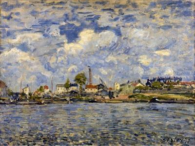 The Seine at Point Du Jour, 1877 by Alfred Sisley