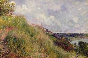 The Seine, View of the Slopes of By, 1881 by Alfred Sisley