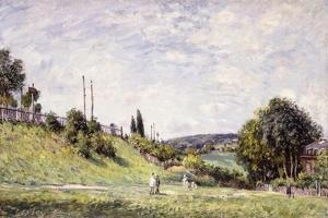 The Slope by the Railway in Sevres, 1879 by Alfred Sisley