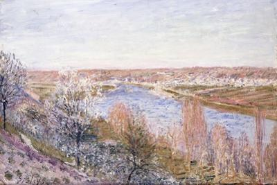 The Village of Champagne at Sunset-April, 1885 by Alfred Sisley