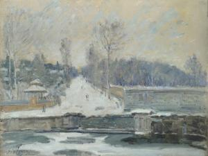The Watering Place at Marly-Le-Roi, C. 1875 by Alfred Sisley